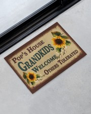 """GRANDKIDS WELCOME OTHERS TOLERATED Doormat 22.5"""" x 15""""  aos-doormat-22-5x15-lifestyle-front-09"""