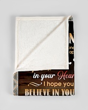 "BELIEVE IN YOURSELF - GIFT FOR GRANDSON Small Fleece Blanket - 30"" x 40"" aos-coral-fleece-blanket-30x40-lifestyle-front-17"