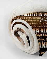 "BELIEVE IN YOURSELF - GIFT FOR GRANDSON Small Fleece Blanket - 30"" x 40"" aos-coral-fleece-blanket-30x40-lifestyle-front-18"