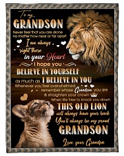 "BELIEVE IN YOURSELF - GIFT FOR GRANDSON Small Fleece Blanket - 30"" x 40"" front"