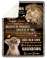 "BELIEVE IN YOURSELF - GIFT FOR GRANDSON Large Sherpa Fleece Blanket - 60"" x 80"" thumbnail"