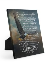 I LOVE YOU FOREVER AND ALWAYS Easel-Back Gallery Wrapped Canvas tile