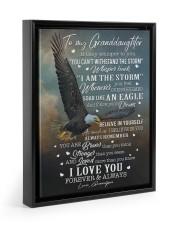 I LOVE YOU FOREVER AND ALWAYS Floating Framed Canvas Prints Black tile