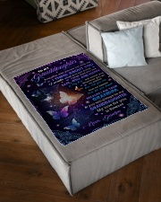 """I THINK ABOUT YOU - GRANDMA TO GRANDDAUGHTER Small Fleece Blanket - 30"""" x 40"""" aos-coral-fleece-blanket-30x40-lifestyle-front-03"""