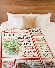 """THE GIFT OF LIFE - GREAT GIFT FOR DAUGHTER-IN-LAW Large Fleece Blanket - 60"""" x 80"""" aos-coral-fleece-blanket-60x80-lifestyle-front-02"""