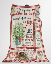 """THE GIFT OF LIFE - GREAT GIFT FOR DAUGHTER-IN-LAW Large Fleece Blanket - 60"""" x 80"""" aos-coral-fleece-blanket-60x80-lifestyle-front-10"""