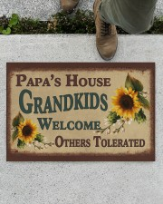 "GRANDKIDS WELCOME OTHERS TOLERATED Doormat 22.5"" x 15""  aos-doormat-22-5x15-lifestyle-front-01"