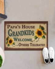 "GRANDKIDS WELCOME OTHERS TOLERATED Doormat 22.5"" x 15""  aos-doormat-22-5x15-lifestyle-front-07"