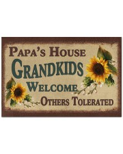 "GRANDKIDS WELCOME OTHERS TOLERATED Doormat 22.5"" x 15""  front"