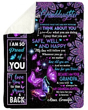 """YOU ARE MY SUNSHINE - GRANDPA TO GRANDDAUGHTER Large Sherpa Fleece Blanket - 60"""" x 80"""" thumbnail"""