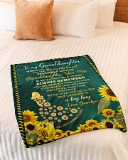 """WHENEVER YOU FEEL OVERWHELMED Small Fleece Blanket - 30"""" x 40"""" aos-coral-fleece-blanket-30x40-lifestyle-front-01"""