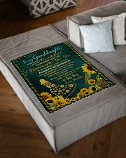 """WHENEVER YOU FEEL OVERWHELMED Small Fleece Blanket - 30"""" x 40"""" aos-coral-fleece-blanket-30x40-lifestyle-front-03"""