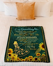 """WHENEVER YOU FEEL OVERWHELMED Small Fleece Blanket - 30"""" x 40"""" aos-coral-fleece-blanket-30x40-lifestyle-front-04"""