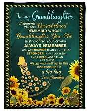 """WHENEVER YOU FEEL OVERWHELMED Small Fleece Blanket - 30"""" x 40"""" front"""