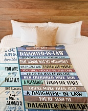 """YOU ARE MY FAMILY-SPECIAL GIFT FOR DAUGHTER-IN-LAW Large Fleece Blanket - 60"""" x 80"""" aos-coral-fleece-blanket-60x80-lifestyle-front-02"""