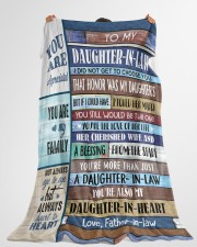 """YOU ARE MY FAMILY-SPECIAL GIFT FOR DAUGHTER-IN-LAW Large Fleece Blanket - 60"""" x 80"""" aos-coral-fleece-blanket-60x80-lifestyle-front-10"""