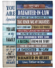 """YOU ARE MY FAMILY-SPECIAL GIFT FOR DAUGHTER-IN-LAW Large Fleece Blanket - 60"""" x 80"""" front"""