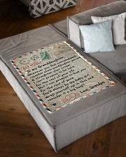 "BIG HUG - AMAZING GIFT FOR GRANDDAUGHTER Small Fleece Blanket - 30"" x 40"" aos-coral-fleece-blanket-30x40-lifestyle-front-03"