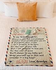 "BIG HUG - AMAZING GIFT FOR GRANDDAUGHTER Small Fleece Blanket - 30"" x 40"" aos-coral-fleece-blanket-30x40-lifestyle-front-04"