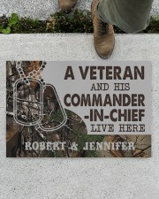 "A VETERAN AND HIS COMMANDER-IN-CHIEF LIVE HERE Doormat 22.5"" x 15""  aos-doormat-22-5x15-lifestyle-front-01"