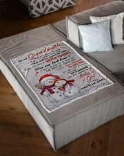"""I LOVE YOU - AMAZING GIFT FOR GRANDDAUGHTER Small Fleece Blanket - 30"""" x 40"""" aos-coral-fleece-blanket-30x40-lifestyle-front-03"""