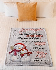 """I LOVE YOU - AMAZING GIFT FOR GRANDDAUGHTER Small Fleece Blanket - 30"""" x 40"""" aos-coral-fleece-blanket-30x40-lifestyle-front-04"""
