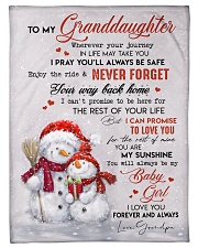 """I LOVE YOU - AMAZING GIFT FOR GRANDDAUGHTER Small Fleece Blanket - 30"""" x 40"""" front"""