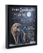 JUST DO YOUR BEST - LOVELY GIFT FOR GRANDDAUGHTER Floating Framed Canvas Prints Black tile