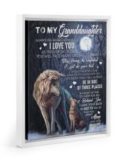 JUST DO YOUR BEST - LOVELY GIFT FOR GRANDDAUGHTER Floating Framed Canvas Prints White tile