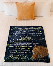 "DEEP IN YOUR HEART - LOVELY GIFT FOR GRANDDAUGHTER Small Fleece Blanket - 30"" x 40"" aos-coral-fleece-blanket-30x40-lifestyle-front-04"
