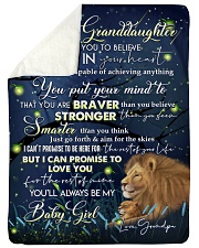 "DEEP IN YOUR HEART - LOVELY GIFT FOR GRANDDAUGHTER Large Sherpa Fleece Blanket - 60"" x 80"" thumbnail"