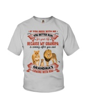 YOU BETTER RUN - AMAZING GIFT FOR GRANDCHILD Youth T-Shirt front