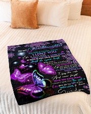 "NEVER FORGET THAT I LOVE YOU Small Fleece Blanket - 30"" x 40"" aos-coral-fleece-blanket-30x40-lifestyle-front-01"