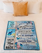 """I PRAY YOU'LL ALWAYS BE SAFE Small Fleece Blanket - 30"""" x 40"""" aos-coral-fleece-blanket-30x40-lifestyle-front-04"""