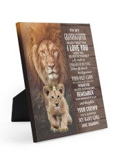 THIS OLD LION WILL ALWAYS HAVE YOUR BACK Easel-Back Gallery Wrapped Canvas tile