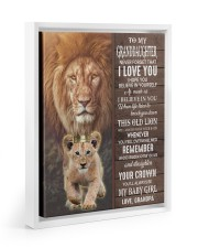 THIS OLD LION WILL ALWAYS HAVE YOUR BACK Floating Framed Canvas Prints White tile