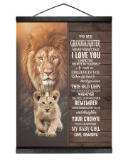 THIS OLD LION WILL ALWAYS HAVE YOUR BACK Hanging Canvas tile