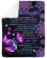 """I WANT YOU TO BELIEVE DEEP IN YOUR HEART Large Sherpa Fleece Blanket - 60"""" x 80"""" thumbnail"""