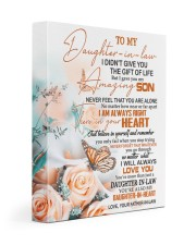 BELIEVE IN YOURSELF -BEST GIFT FOR DAUGHTER-IN-LAW 11x14 Gallery Wrapped Canvas Prints front
