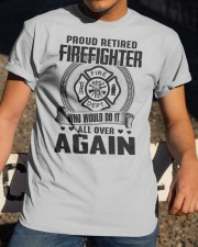PROUD RETIRED FIREFIGHTER - GREAT GIFT FOR GRANDPA Classic T-Shirt apparel-classic-tshirt-lifestyle-28
