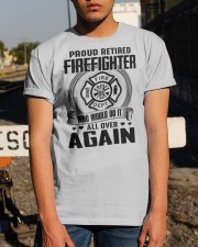 PROUD RETIRED FIREFIGHTER - GREAT GIFT FOR GRANDPA Classic T-Shirt apparel-classic-tshirt-lifestyle-29