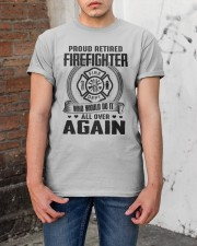 PROUD RETIRED FIREFIGHTER - GREAT GIFT FOR GRANDPA Classic T-Shirt apparel-classic-tshirt-lifestyle-31