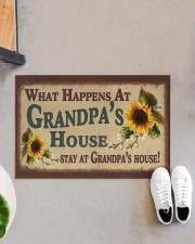 """STAY AT GRANDPA'S HOUSE Doormat 22.5"""" x 15""""  aos-doormat-22-5x15-lifestyle-front-07"""