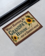 """STAY AT GRANDPA'S HOUSE Doormat 22.5"""" x 15""""  aos-doormat-22-5x15-lifestyle-front-09"""