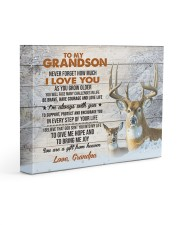 I LOVE YOU - GREAT GIFT FOR GRANDSON FROM GRANDPA 14x11 Gallery Wrapped Canvas Prints front
