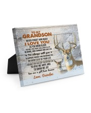 I LOVE YOU - GREAT GIFT FOR GRANDSON FROM GRANDPA 10x8 Easel-Back Gallery Wrapped Canvas thumbnail