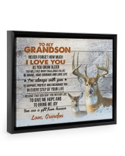 I LOVE YOU - GREAT GIFT FOR GRANDSON FROM GRANDPA 14x11 Black Floating Framed Canvas Prints thumbnail