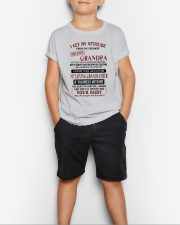 MESS WITH ME - AMAZING GIFT FOR GRANDSON Youth T-Shirt lifestyle-youth-tshirt-front-1