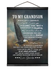YOU'RE ALWAYS IN MY HEART - GIFT FOR GRANDSON 12x16 Black Hanging Canvas thumbnail