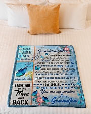 """I LOVE YOU TO THE MOON AND BACK Small Fleece Blanket - 30"""" x 40"""" aos-coral-fleece-blanket-30x40-lifestyle-front-04"""